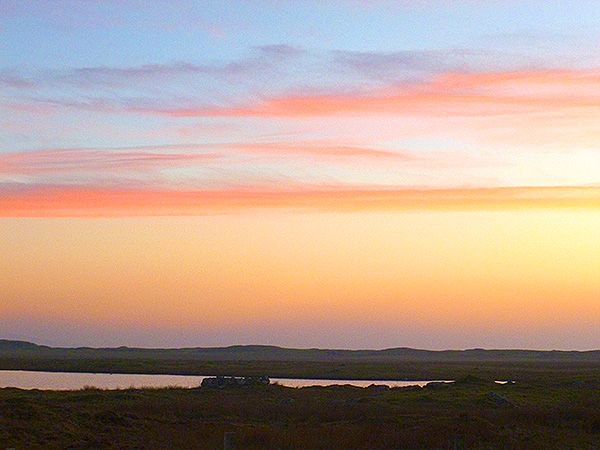 Beautiful Hebridean sunset