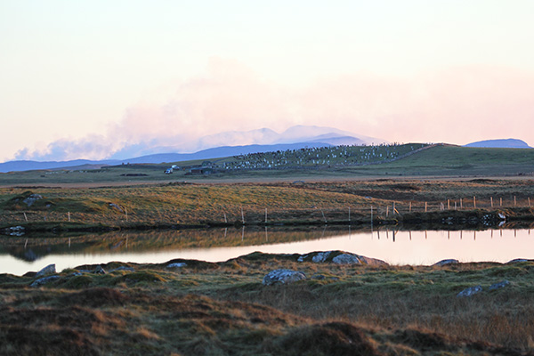 Mordor, sorry Barra, in the distance, looking like it's on fire