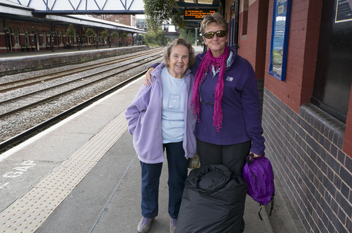 Mum and I at the station