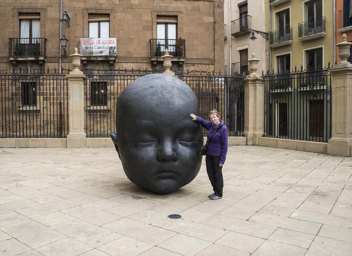 Pamplona, Camino de Santiago, baby head