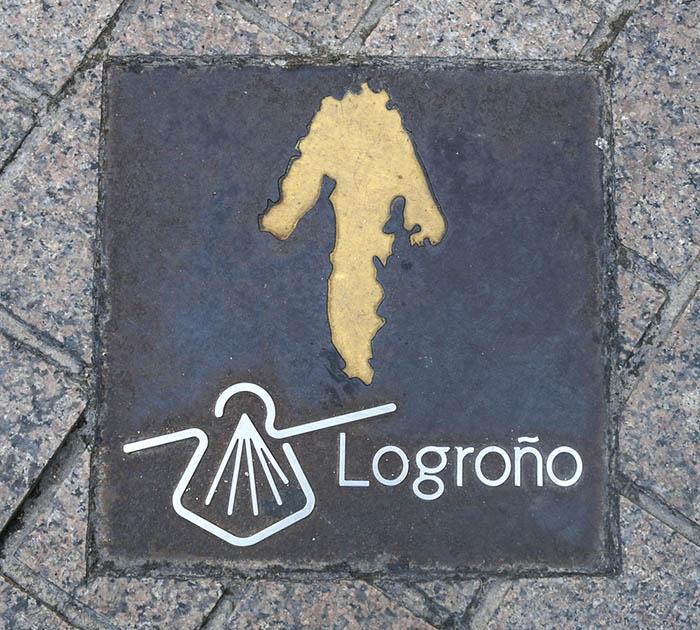 Yellow arrow, Logroño, Camino de Santiago