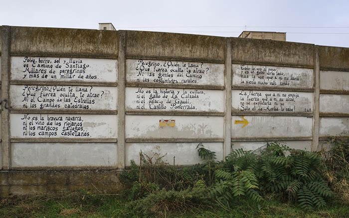 graffiti, Nájera, Camino de Santiago